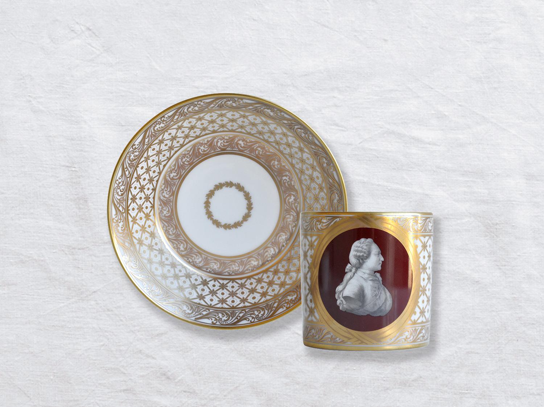 Tasse et soucoupe litron en porcelaine de la collection AU ROI LOUIS XVI Bernardaud