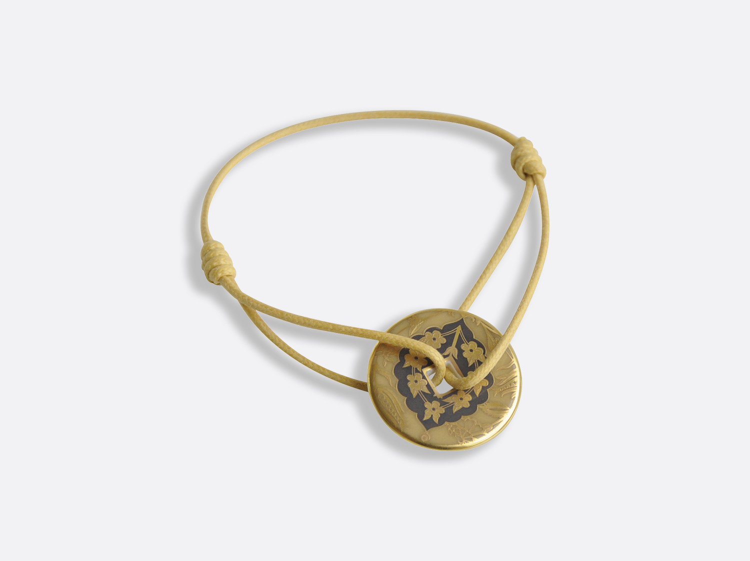 Bracelet Talisman en porcelaine de la collection Sultane Ocre Bernardaud