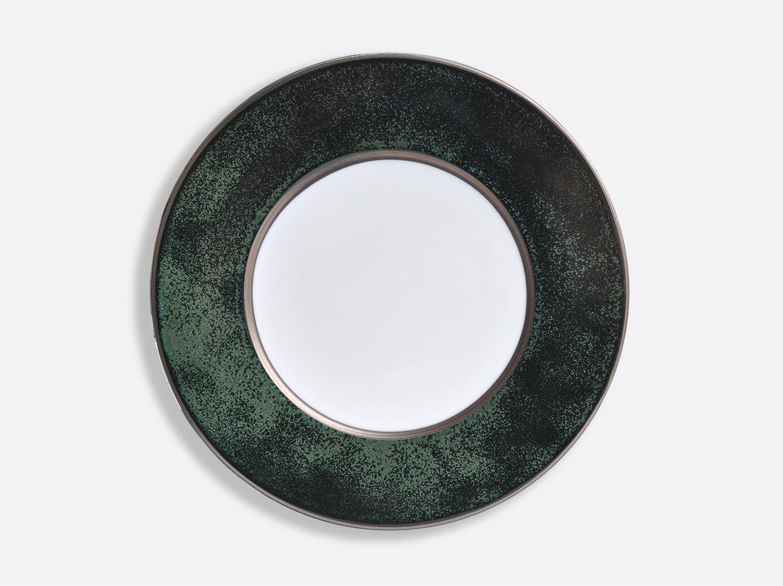 Assiette Vert Marais/Platine 31,5 cm en porcelaine de la collection ÉMAIL VERT MARAIS - PLATINE Bernardaud