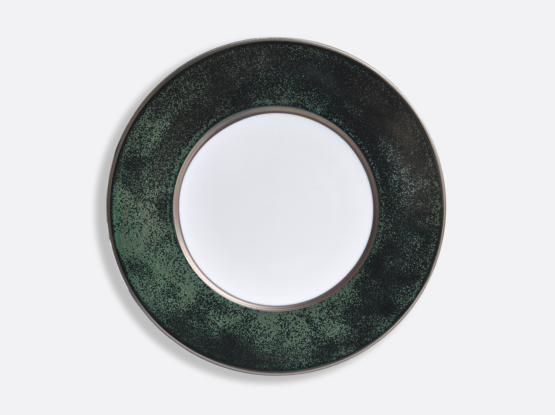 China Vert Marais/Platine plate 31,5 cm of the collection ÉMAIL VERT MARAIS - PLATINE | Bernardaud