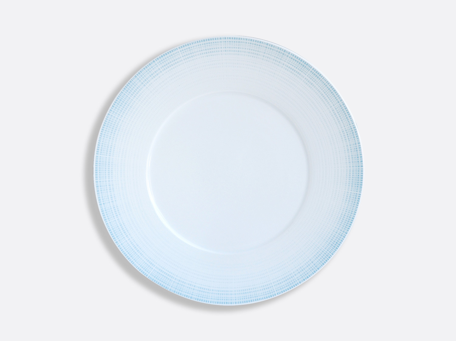 Assiette plate 27 cm en porcelaine de la collection Saphir Bleu Bernardaud