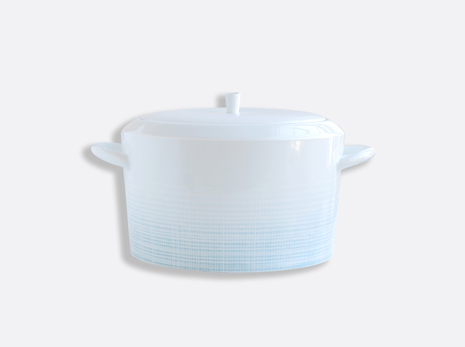 Soupière 2 L en porcelaine de la collection Saphir Bleu Bernardaud
