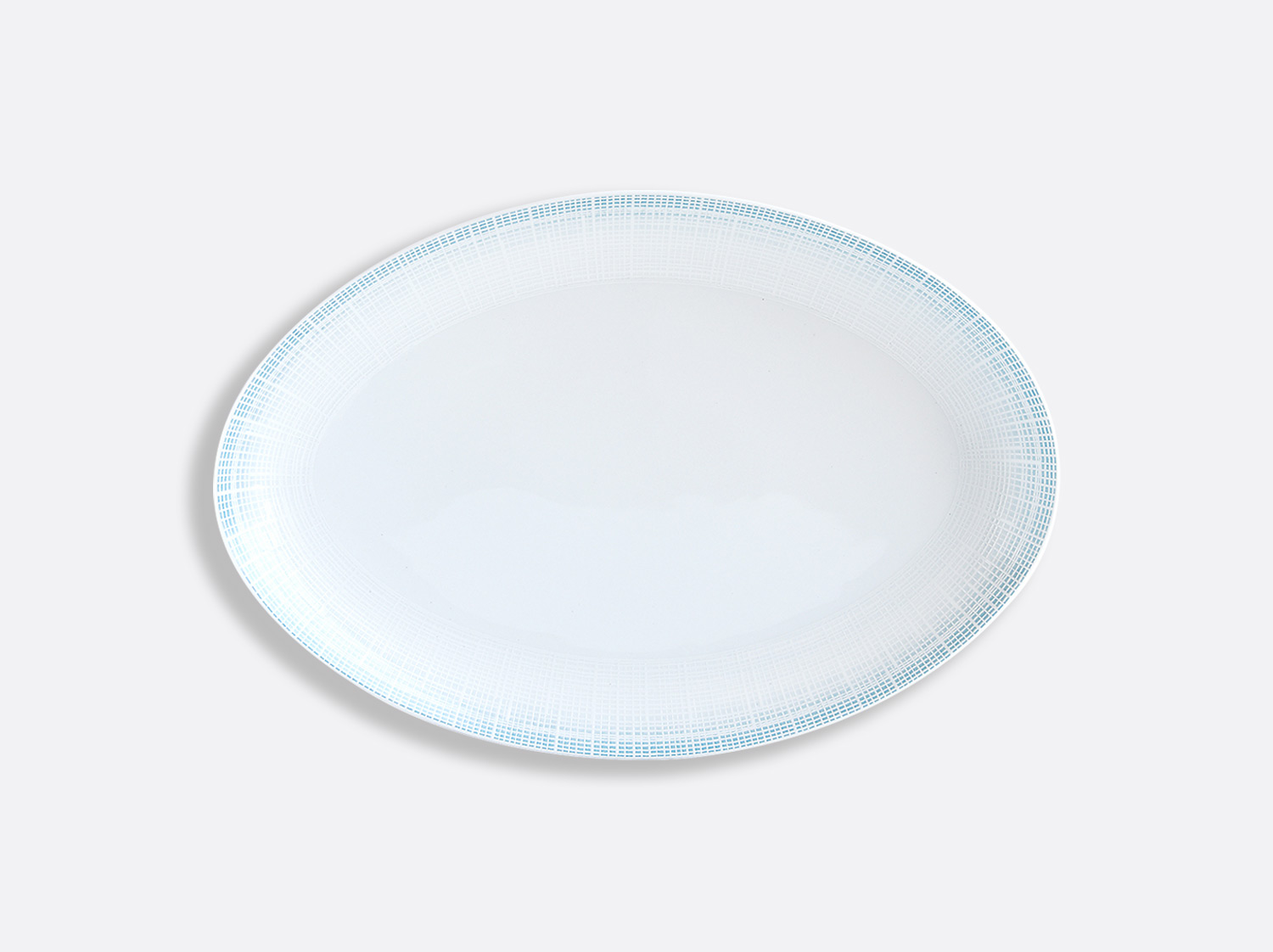 China Oval platter 38 cm of the collection Saphir Bleu | Bernardaud
