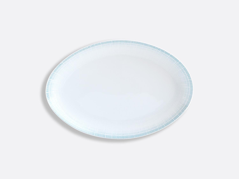 China Oval platter 33 cm of the collection Saphir Bleu | Bernardaud