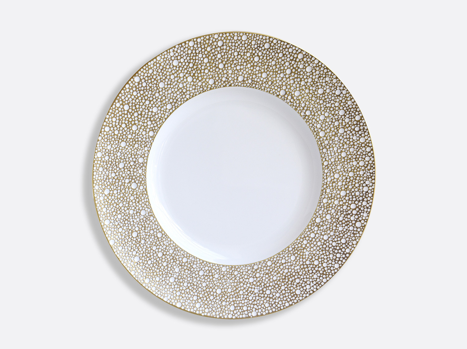 Assiette plate 31,5 cm en porcelaine de la collection Ecume Mordoré Bernardaud