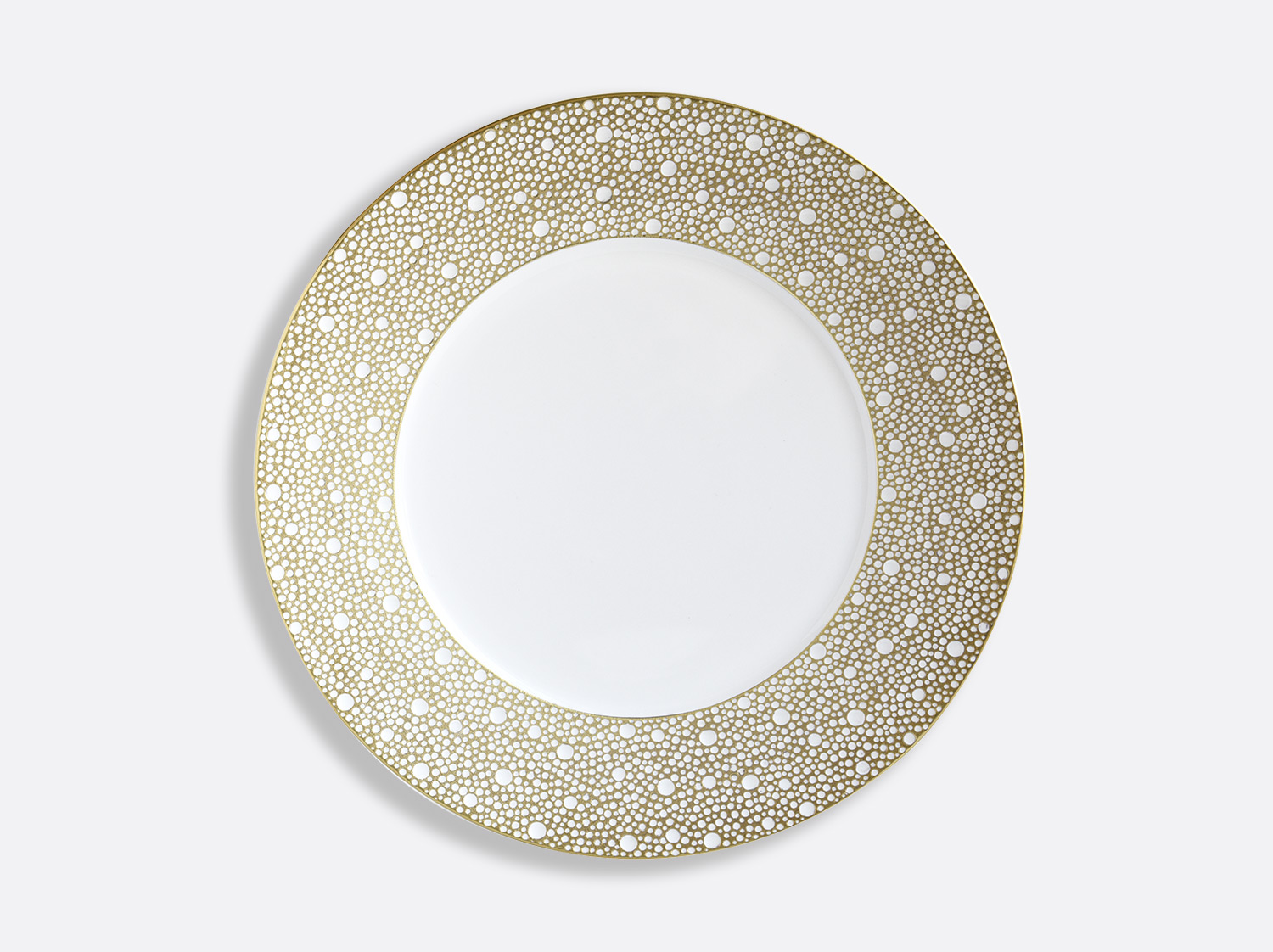 Assiette plate 29,5 cm en porcelaine de la collection Ecume Mordoré Bernardaud