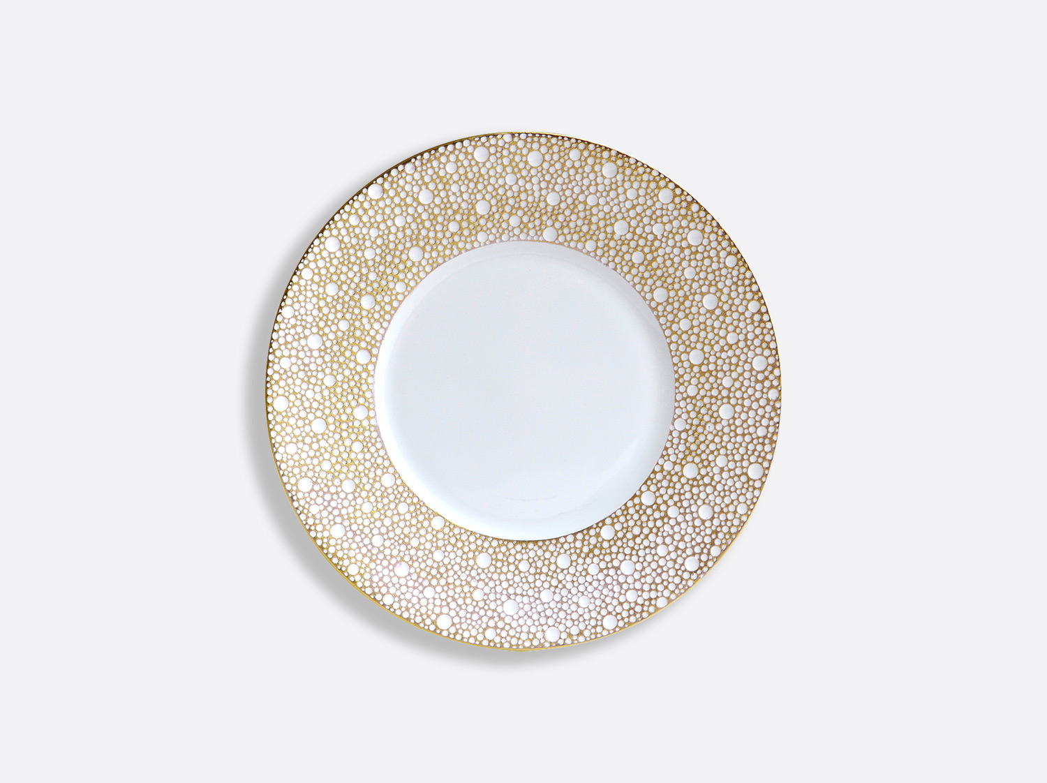 Assiette plate 16 cm en porcelaine de la collection Ecume Mordoré Bernardaud