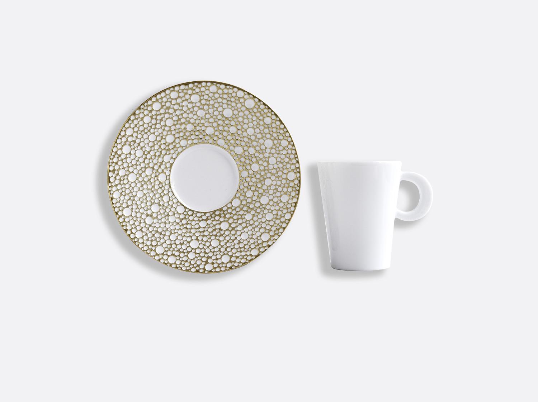 Tasse et soucoupe café 6 cl en porcelaine de la collection Ecume Mordoré Bernardaud