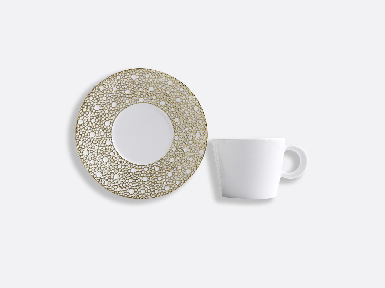 Tasse et soucoupe thé 17 cl en porcelaine de la collection Ecume Mordoré Bernardaud