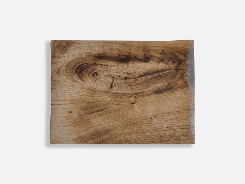 Planche rectangulaire 27 x 19 cm en porcelaine de la collection Bois Clair Bernardaud
