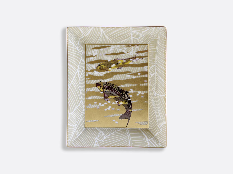 China Rectangular ashtray 20 x 16 cm of the collection EAUX D OR | Bernardaud