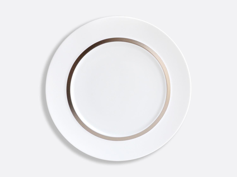 Assiette plate Shogun 29,5 cm en porcelaine de la collection Cronos Platine Bernardaud