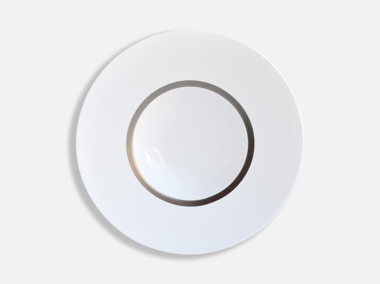 Assiette creuse à aile 27 cm en porcelaine de la collection Cronos Platine Bernardaud