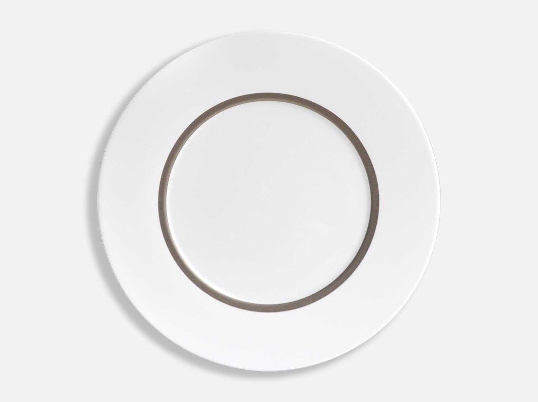 Assiette Astre 31,5 cm en porcelaine de la collection Cronos Platine Bernardaud