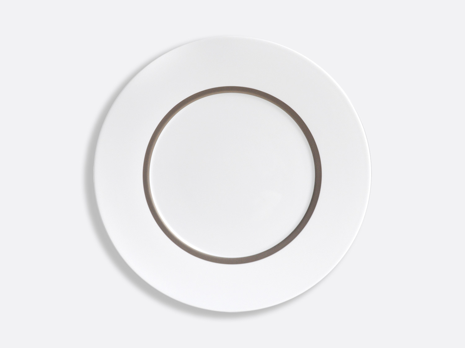 Assiette Astre 27 cm en porcelaine de la collection Cronos Platine Bernardaud