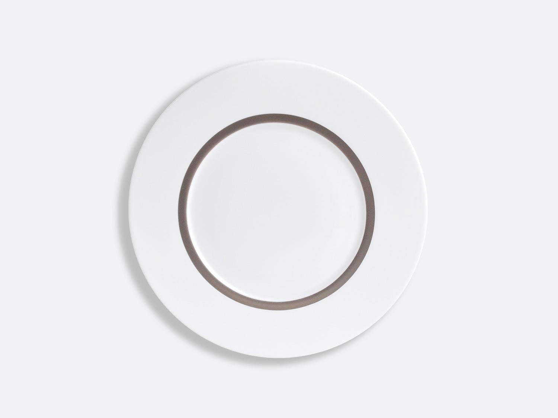 Assiette Astre 21 cm en porcelaine de la collection Cronos Platine Bernardaud
