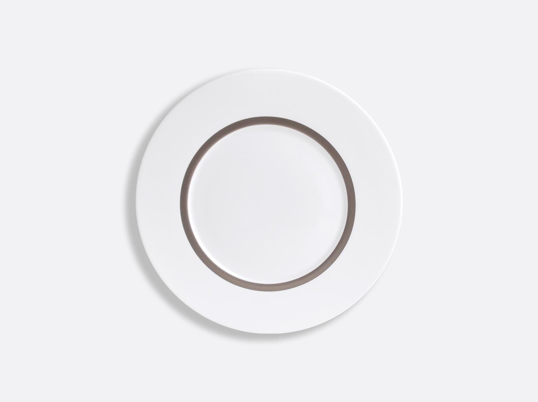 Assiette Astre 16 cm en porcelaine de la collection Cronos Platine Bernardaud