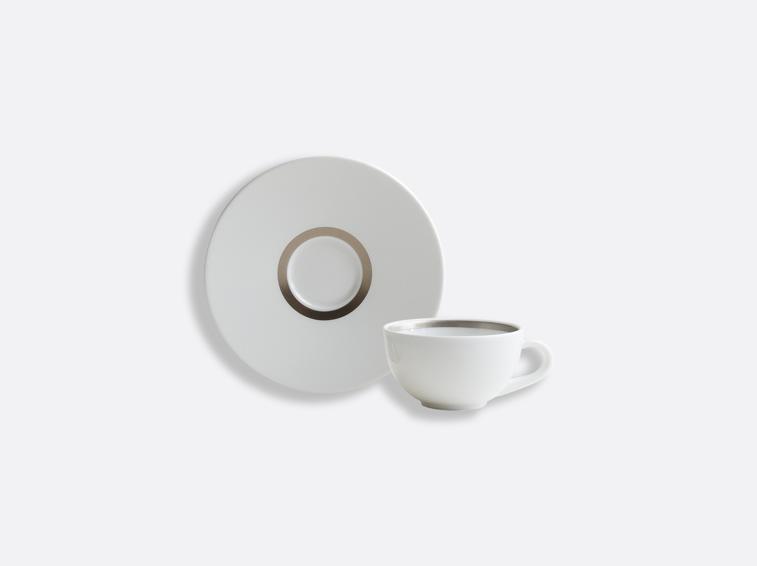 China Coffee cup and saucer 10 cl of the collection Cronos Platine | Bernardaud