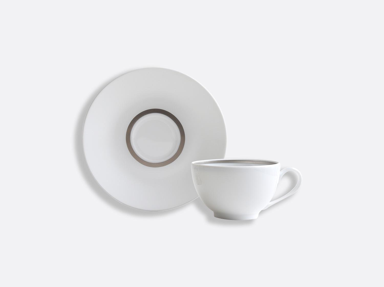 China Teacup and saucer 13 cl of the collection Cronos Platine | Bernardaud