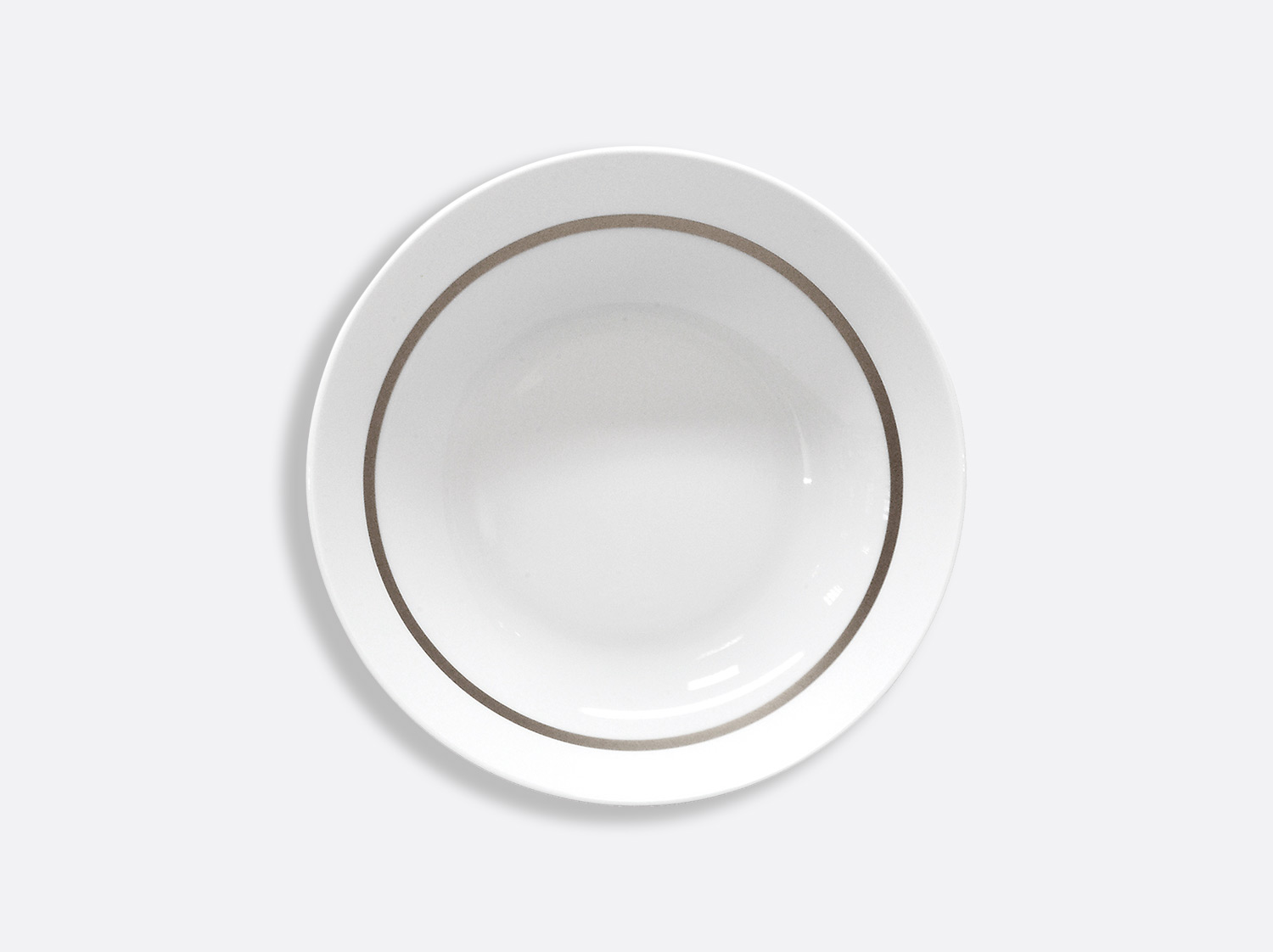 China Coupe soup plate 18.5 cm of the collection Cronos Platine | Bernardaud