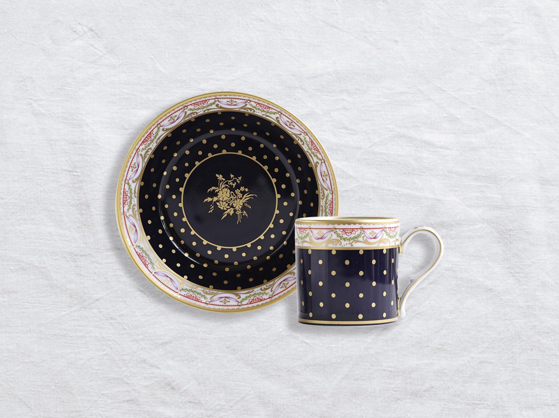 Tasse et soucoupe litron en porcelaine de la collection BOUQUET DE LA REINE Bernardaud