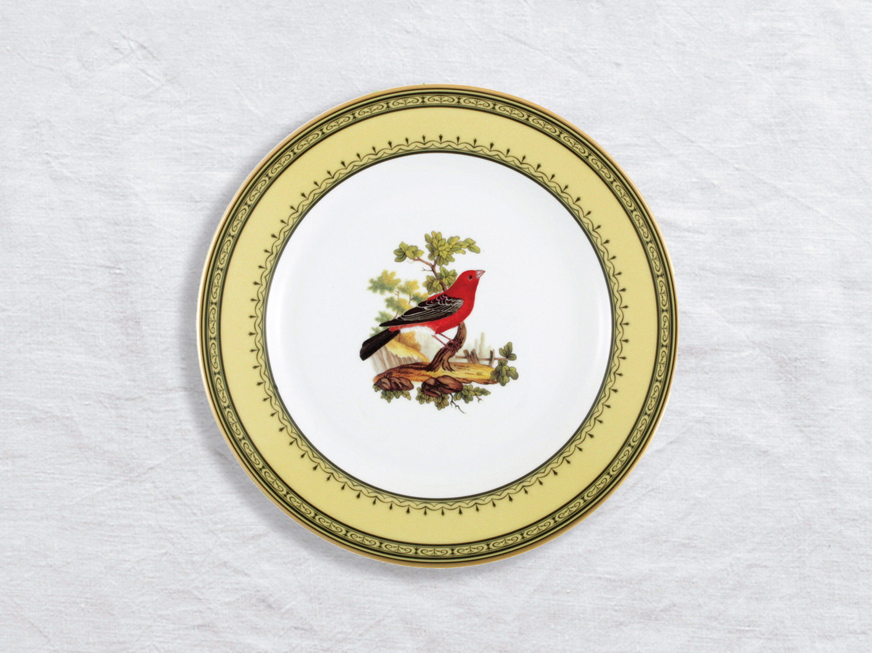 Assiette à dessert Gros bec du Canada 21 cm en porcelaine de la collection Gros bec du canada Bernardaud