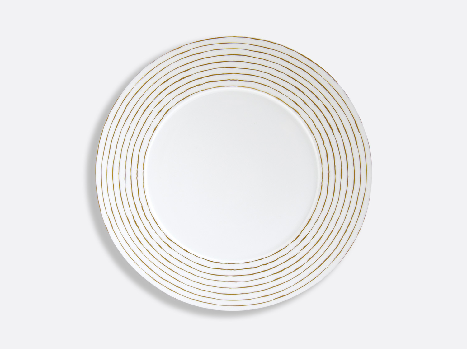 Assiette à dîner 27 cm en porcelaine de la collection Aboro Or Bernardaud