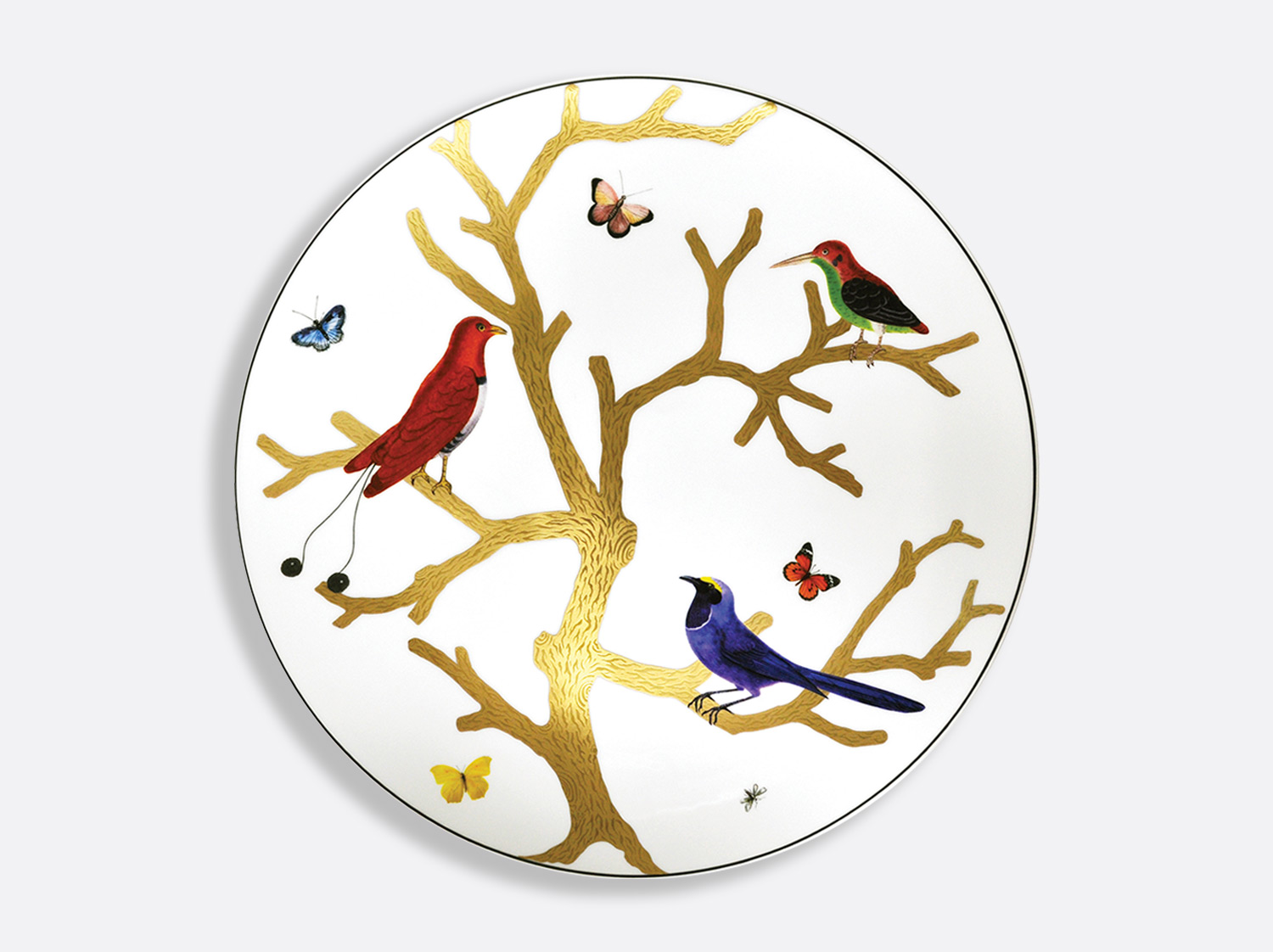 China Ultra flat plate 12.2'' of the collection Aux oiseaux | Bernardaud