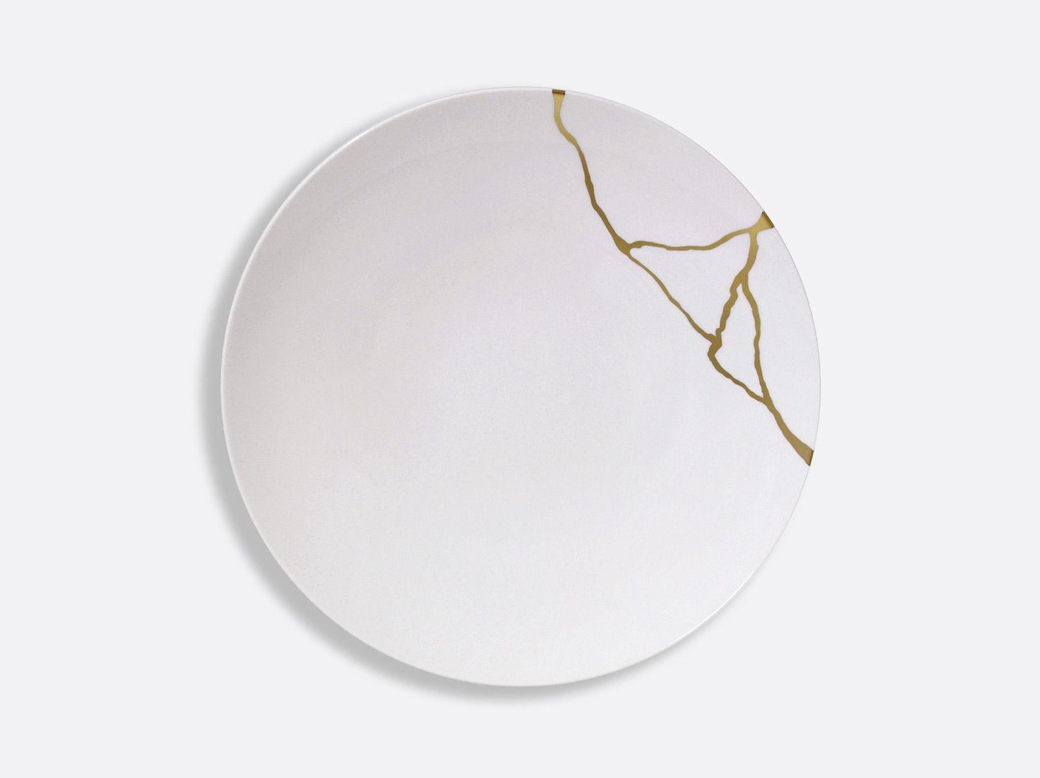 Assiette coupe à dîner 27 cm en porcelaine de la collection Kintsugi Bernardaud