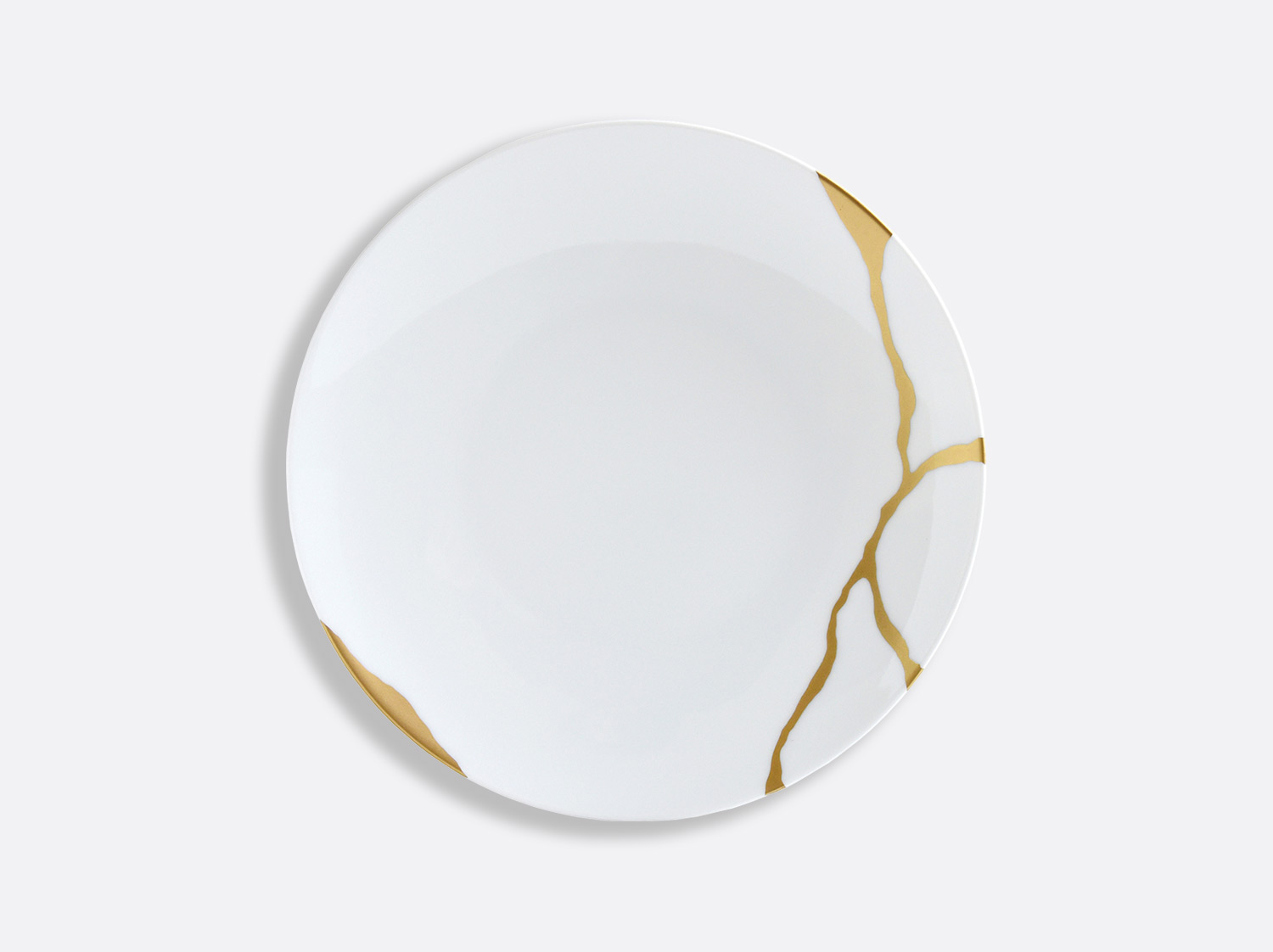 Assiette coupe à dessert 21 cm en porcelaine de la collection Kintsugi Bernardaud