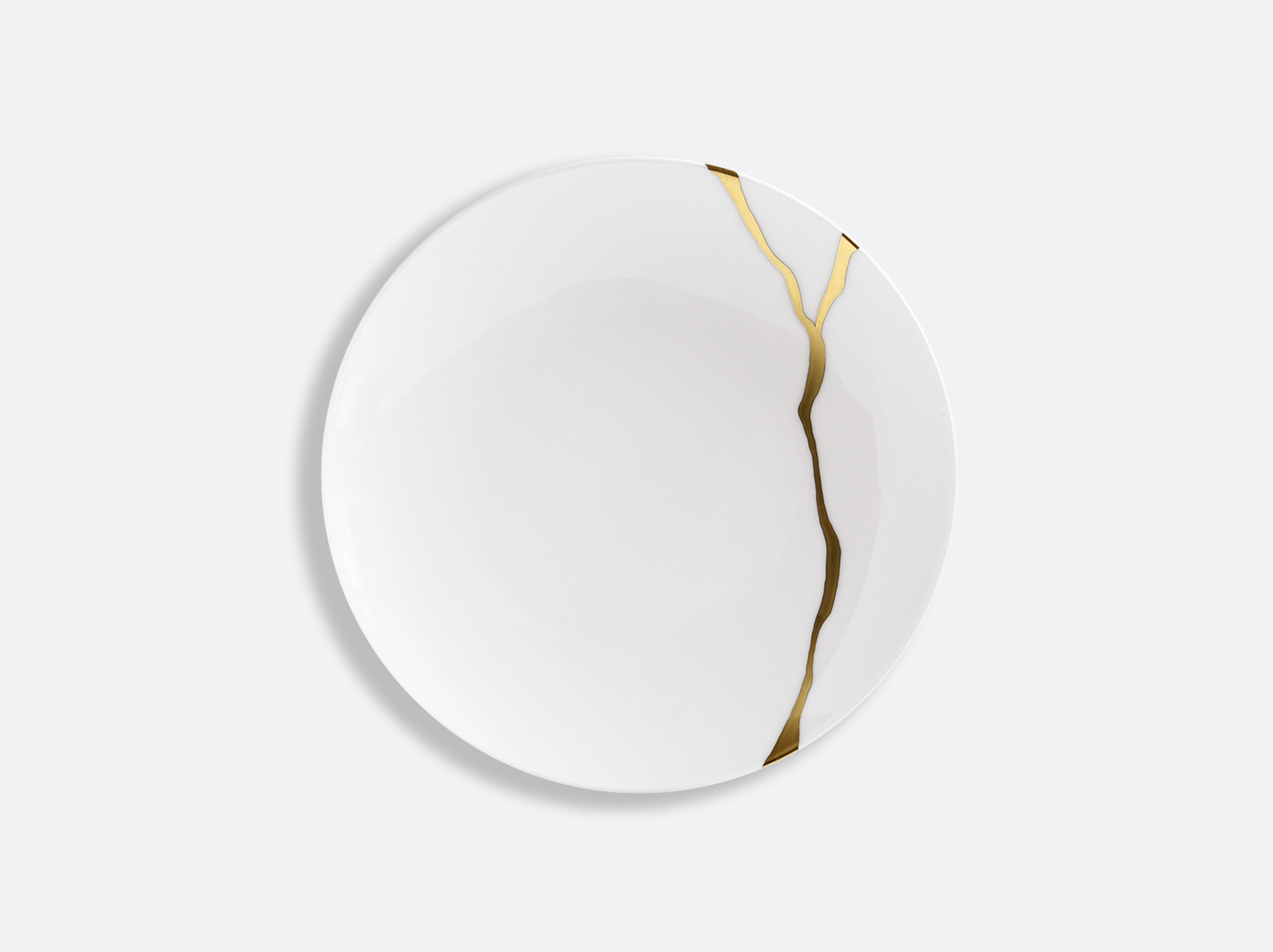 Assiette coupe à pain 16 cm en porcelaine de la collection Kintsugi Bernardaud