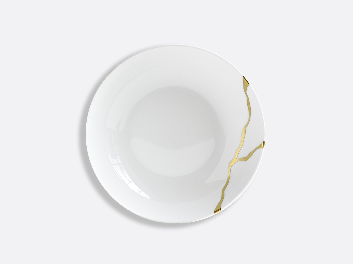 Assiette creuse calotte 19 cm en porcelaine de la collection Kintsugi Bernardaud