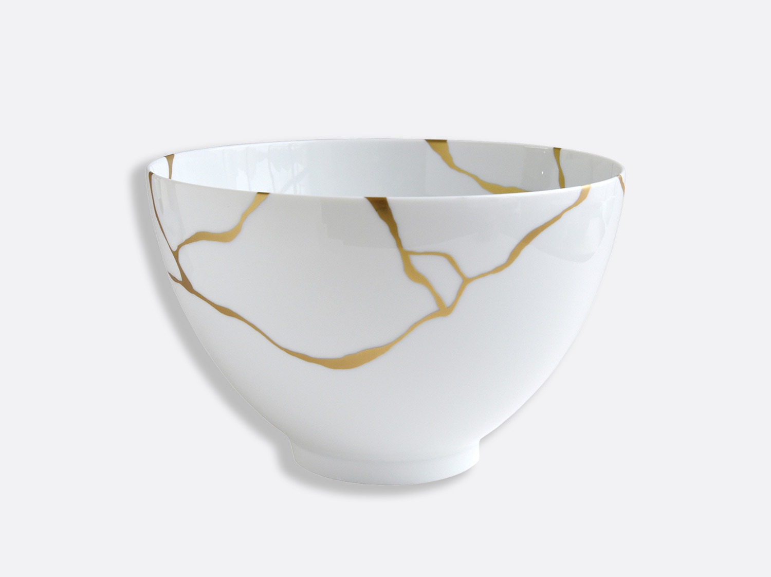 Saladier haut 27 cm 4,2 L en porcelaine de la collection Kintsugi Bernardaud