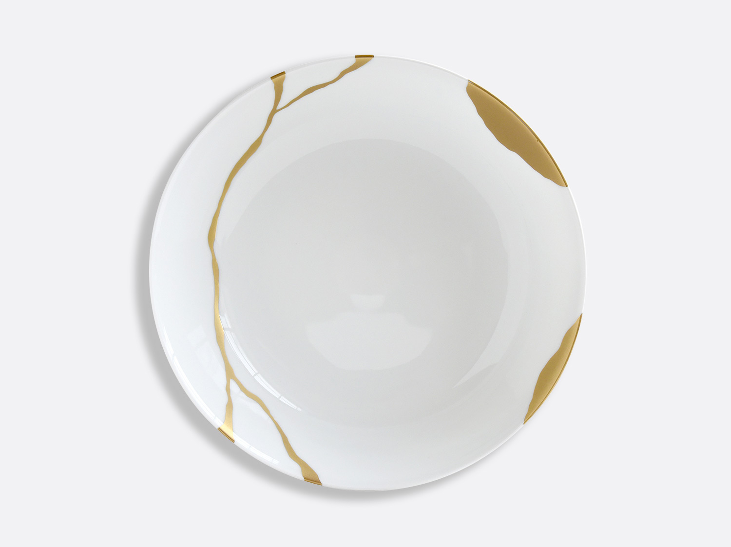 Compotier creux 24 cm en porcelaine de la collection Kintsugi Bernardaud