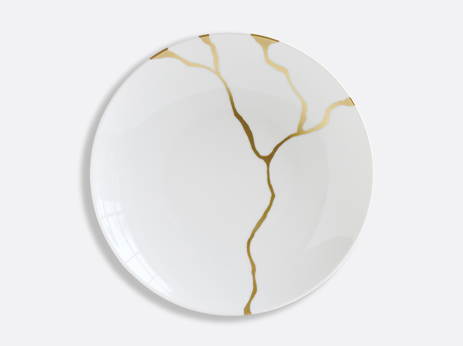 Plat rond creux 29 cm en porcelaine de la collection Kintsugi Bernardaud