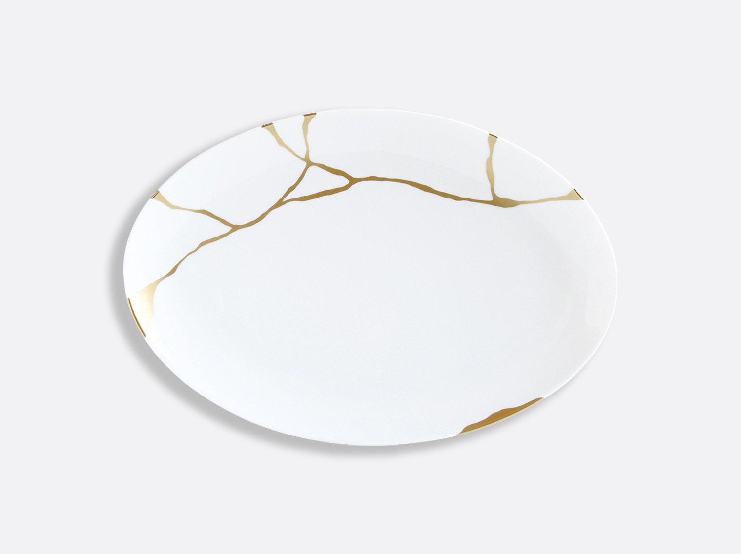 Plat ovale 38 cm en porcelaine de la collection Kintsugi Bernardaud