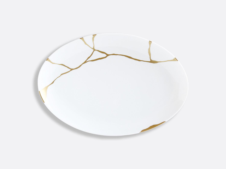 Plat ovale 38 cm en porcelaine de la collection Kintsugi Bernardaud
