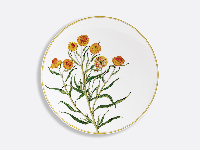 Assiette coupe 27 cm en porcelaine de la collection jardin indien Bergenis Bernardaud