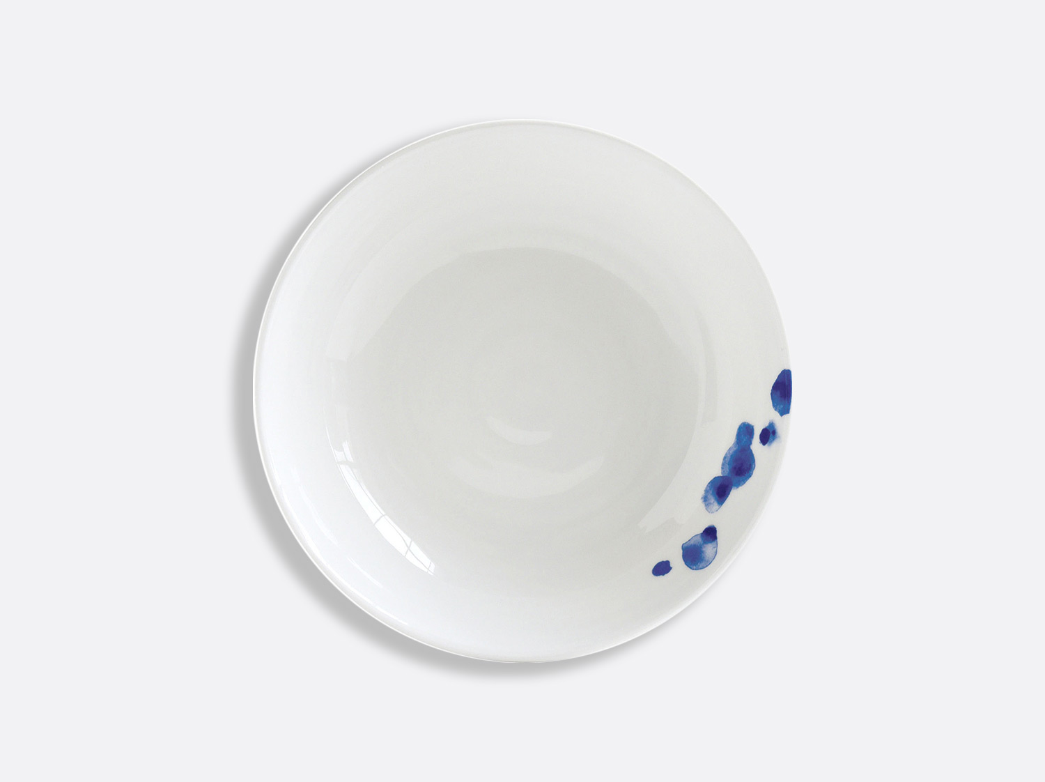 Assiette creuse calotte 19 cm en porcelaine de la collection Ondée Bernardaud