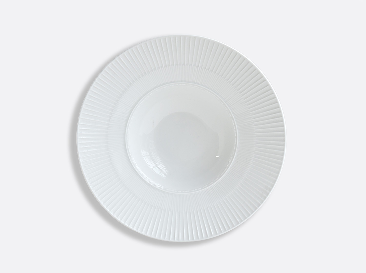 China Large rim soup Marly D. 27 cm H. 5,5 cm of the collection Louvre | Bernardaud