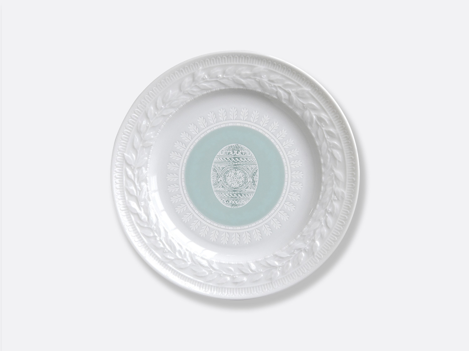 China Green salad plate 8.5'' of the collection Louvre pâques vert | Bernardaud