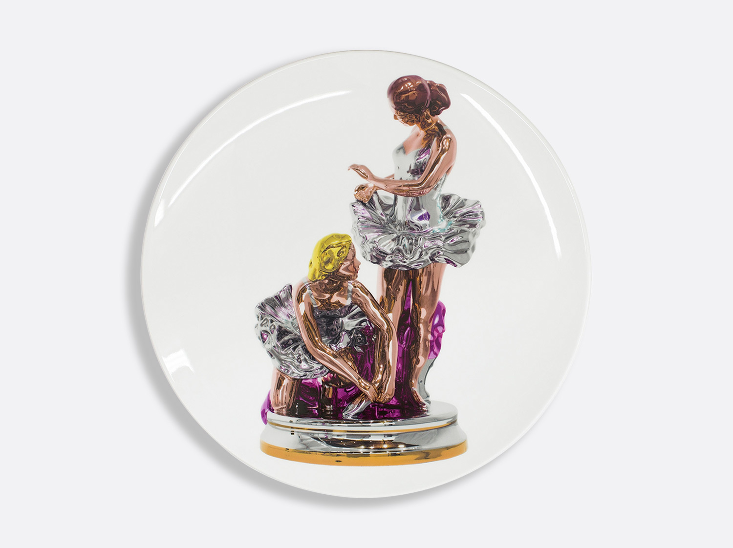 China Coupe service plate 31 cm of the collection BALLERINAS by Jeff Koons | Bernardaud