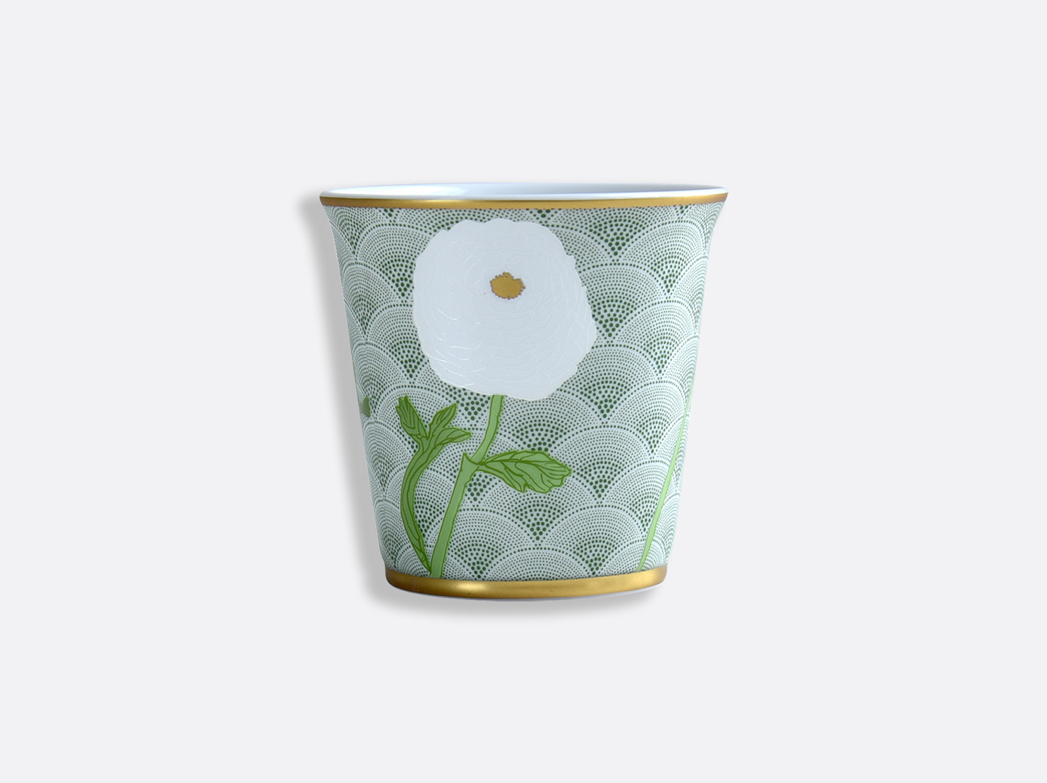 Pot 9 cm + bougie parfumée 200g en porcelaine de la collection PRAIANA Bernardaud
