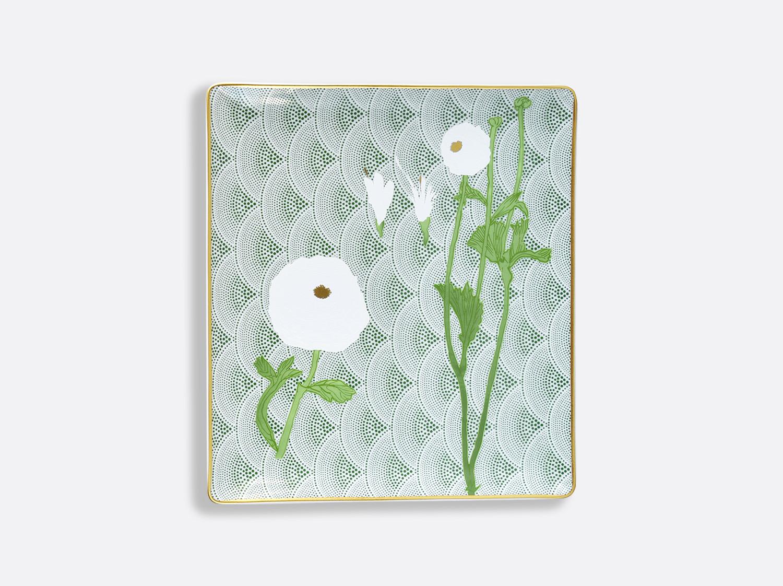 Plateau rectangulaire 22 x 19,5 cm en porcelaine de la collection PRAIANA Bernardaud
