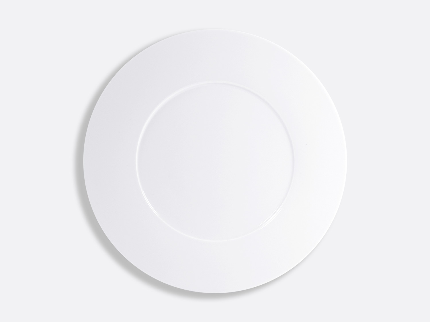 Assiette plate 29,5 cm en porcelaine de la collection ASTRE BLANC Bernardaud