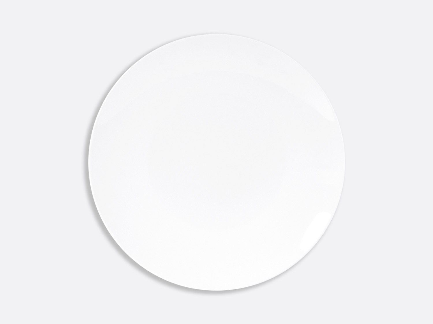 Assiette ultra plate 27 cm en porcelaine de la collection DOMUS BLANC Bernardaud