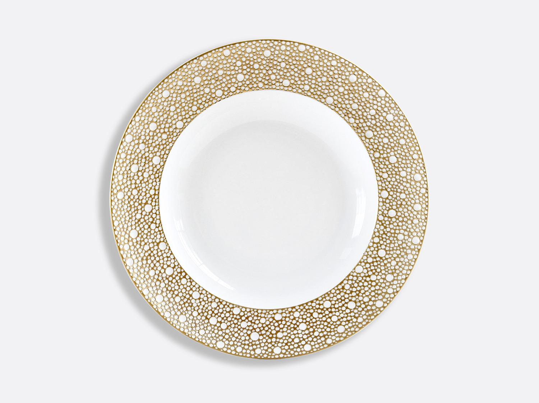 Assiette creuse à aile 23 cm en porcelaine de la collection Ecume Mordoré Bernardaud