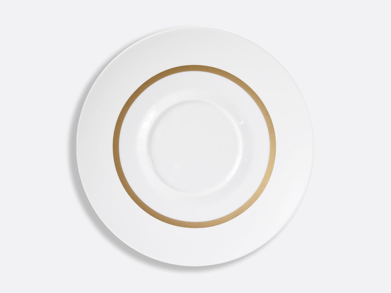 Assiette plate Shogun 29,5 cm en porcelaine de la collection Cronos or Bernardaud