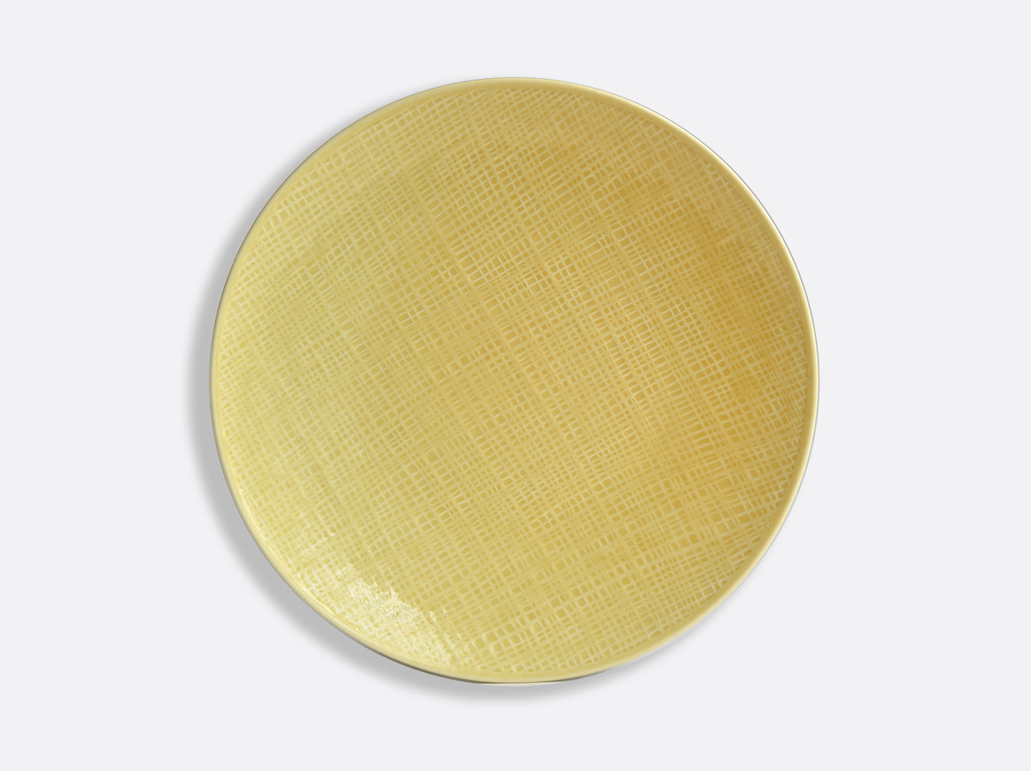 China Yellow dinner plate 26 cm of the collection ORGANZA JAUNE PAILLE | Bernardaud