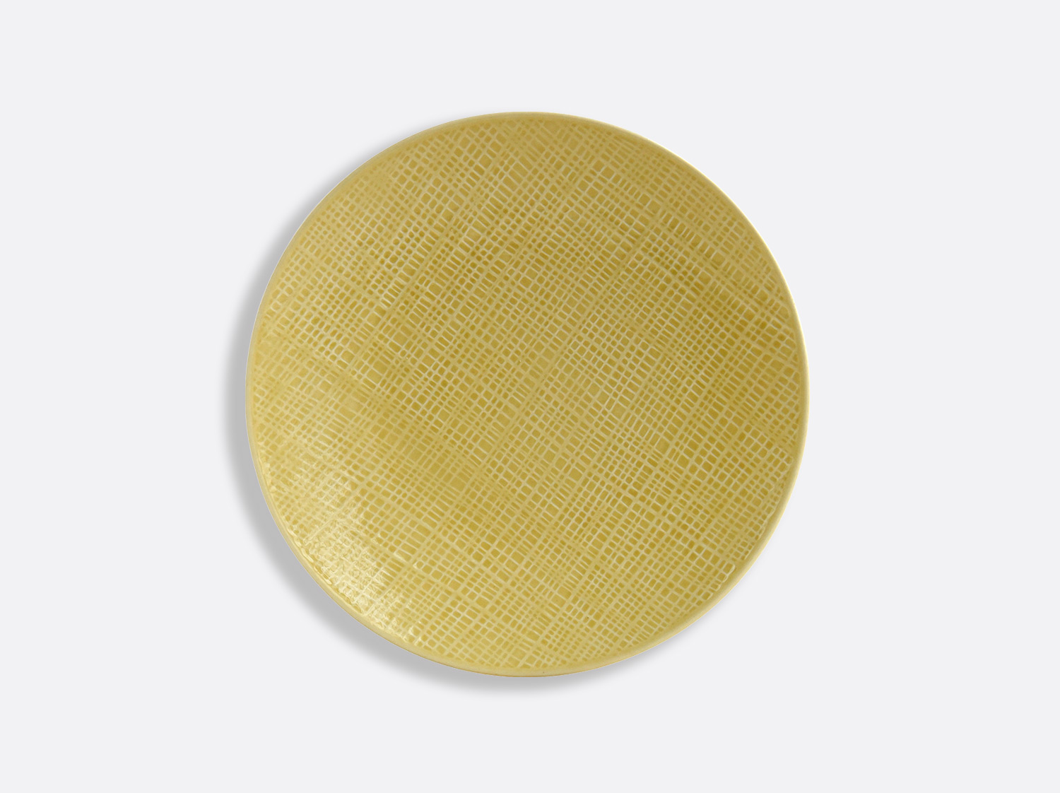 Assiette Jaune Paille 21 cm en porcelaine de la collection ORGANZA JAUNE PAILLE Bernardaud